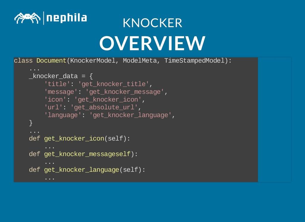 KNOCKER KNOCKER OVERVIEW OVERVIEW class Documen...