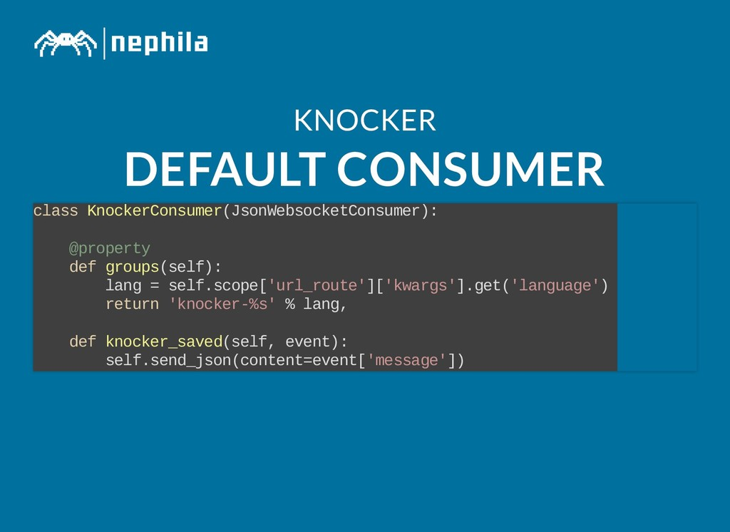 KNOCKER KNOCKER DEFAULT CONSUMER DEFAULT CONSUM...
