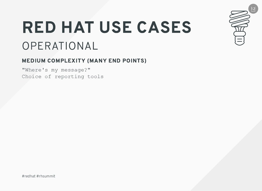 RED HAT RED HAT USE CASES USE CASES OPERATIONAL...