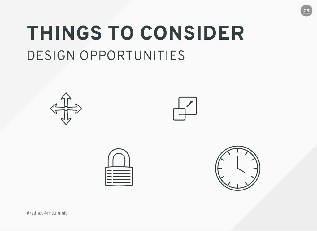 THINGS TO CONSIDER THINGS TO CONSIDER DESIGN OP...
