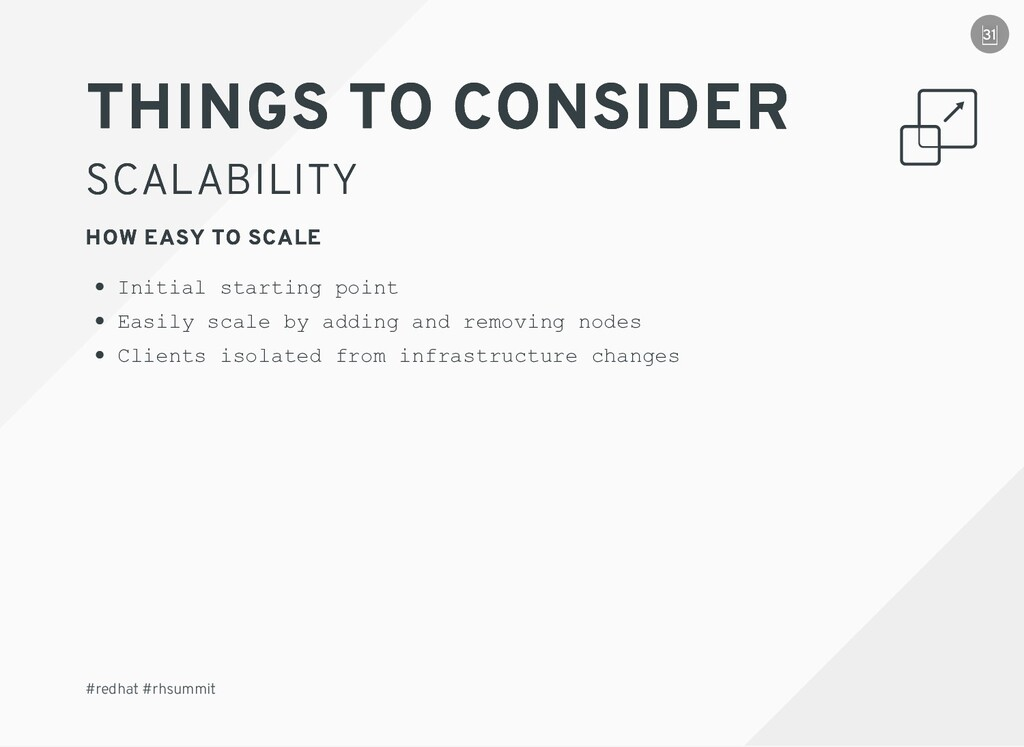 THINGS TO CONSIDER THINGS TO CONSIDER SCALABILI...
