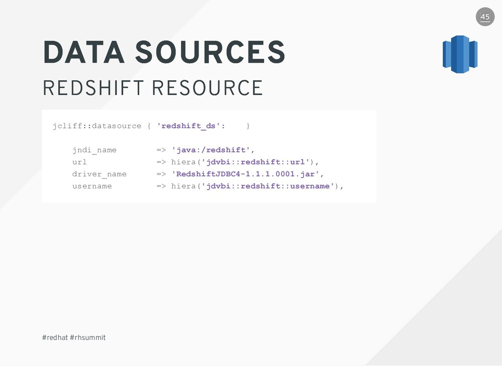 DATA SOURCES DATA SOURCES REDSHIFT RESOURCE RED...