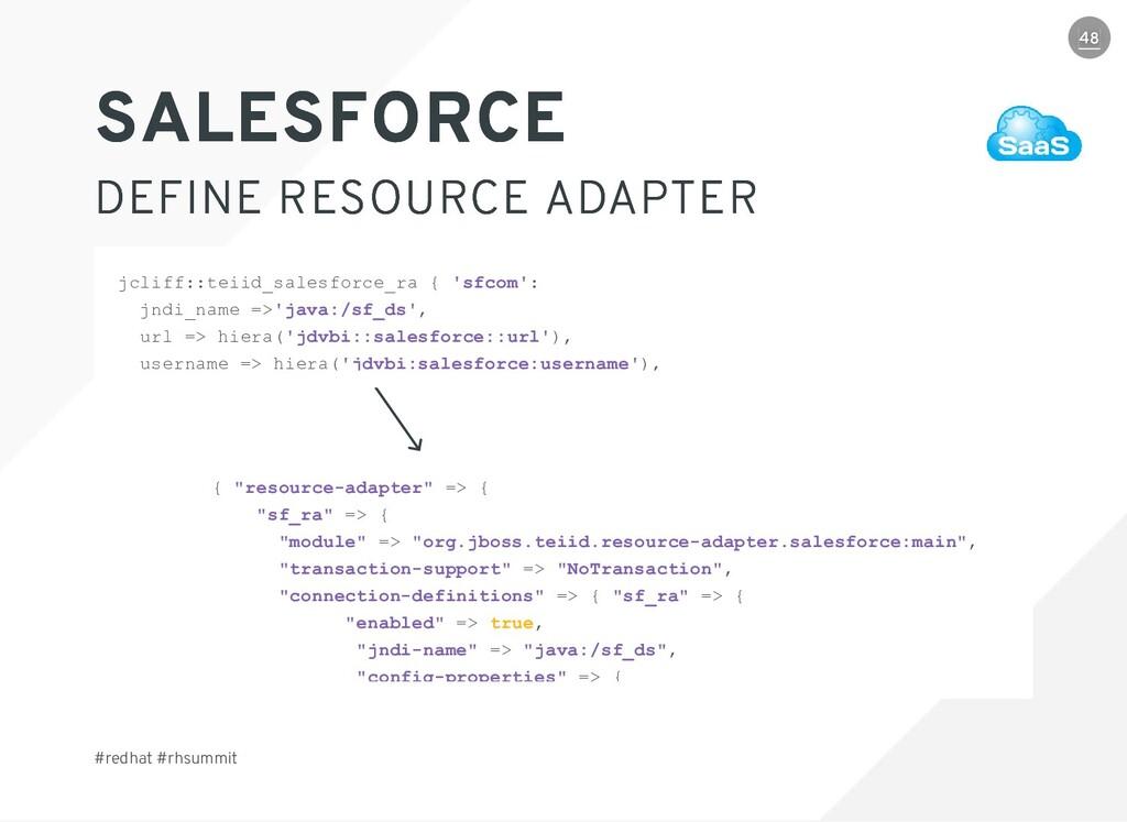 """#redhat #rhsummit { """"resource-adapter"""" => { """"sf..."""