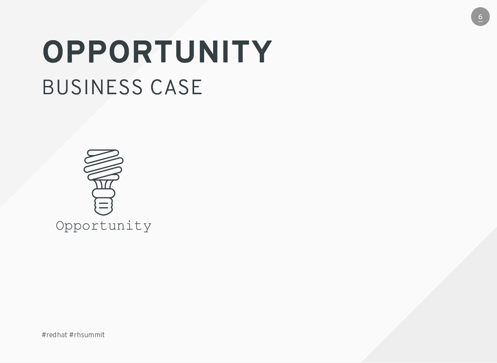 OPPORTUNITY OPPORTUNITY BUSINESS CASE BUSINESS ...