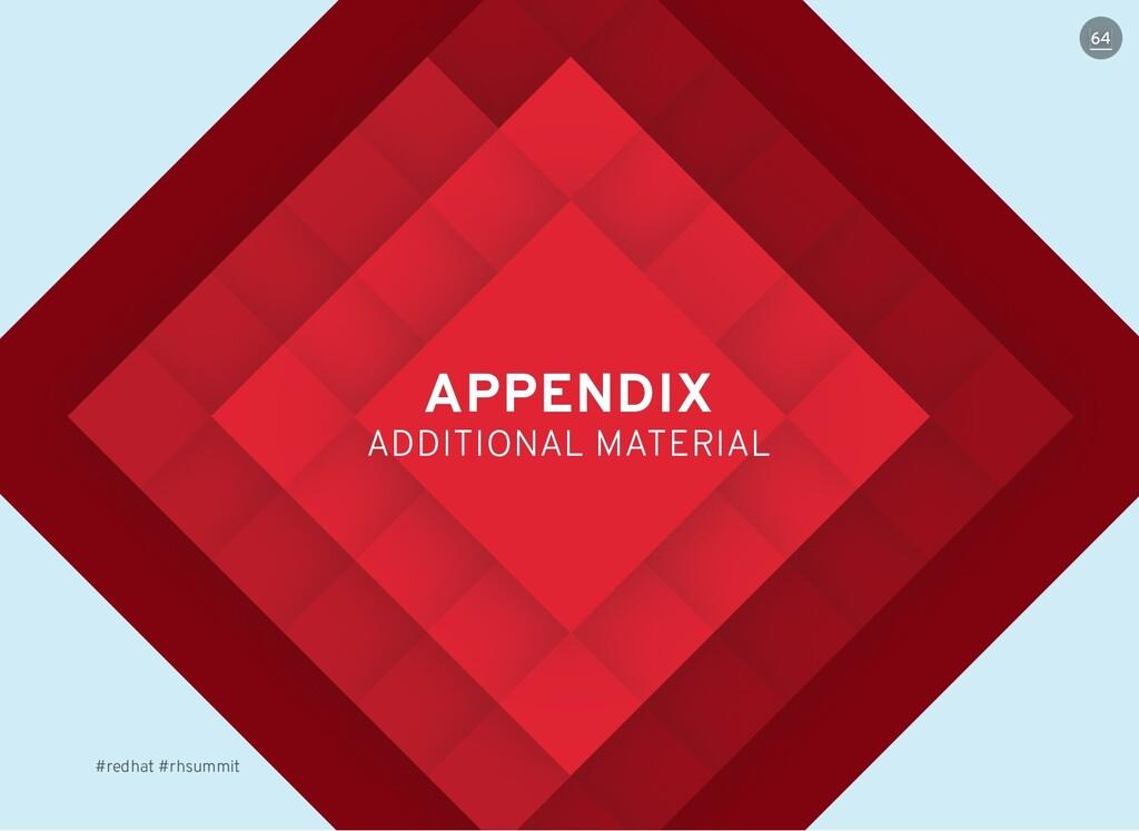 APPENDIX APPENDIX ADDITIONAL MATERIAL ADDITIONA...
