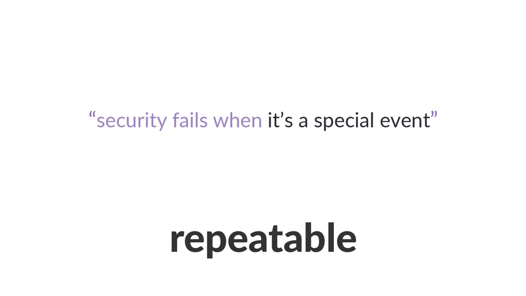 repeatable