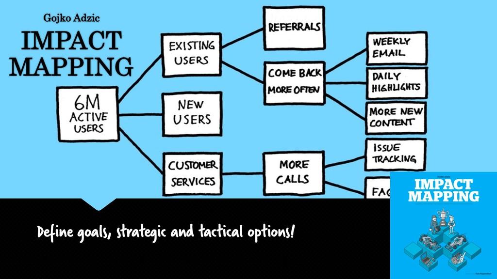 Define goals, strategic and tactical options! G...