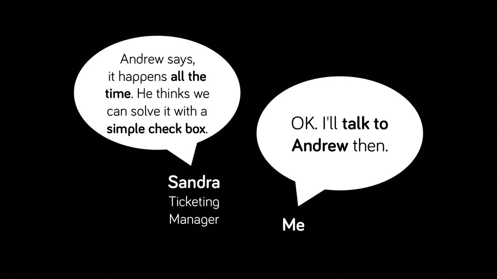 Andrew says, it happens all the time. He thinks...
