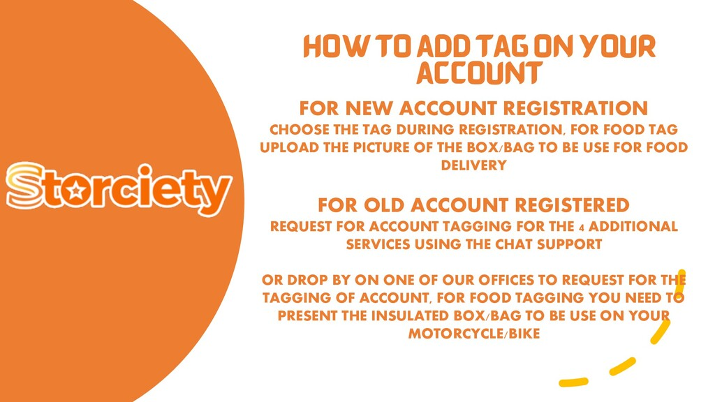 HOW TO ADD TAG ON YOUR ACCOUNT FOR NEW ACCOUNT ...
