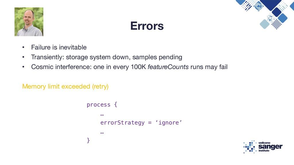 Errors • Failure is inevitable • Transiently: s...
