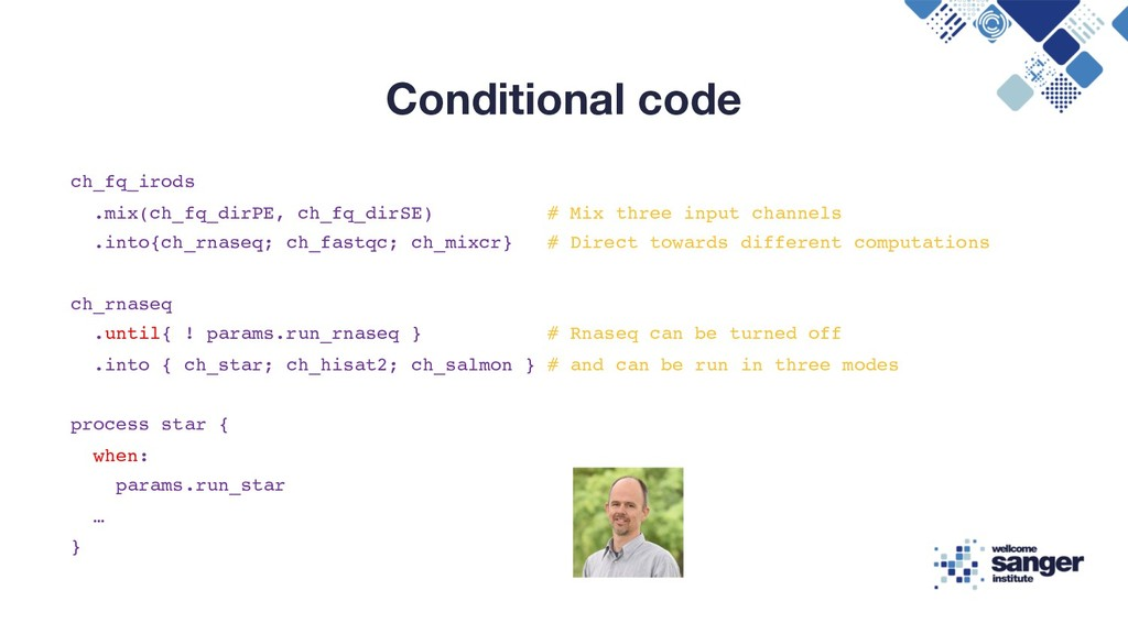 Conditional code ch_fq_irods .mix(ch_fq_dirPE, ...