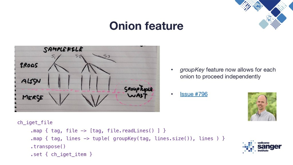 Onion feature • groupKey feature now allows for...