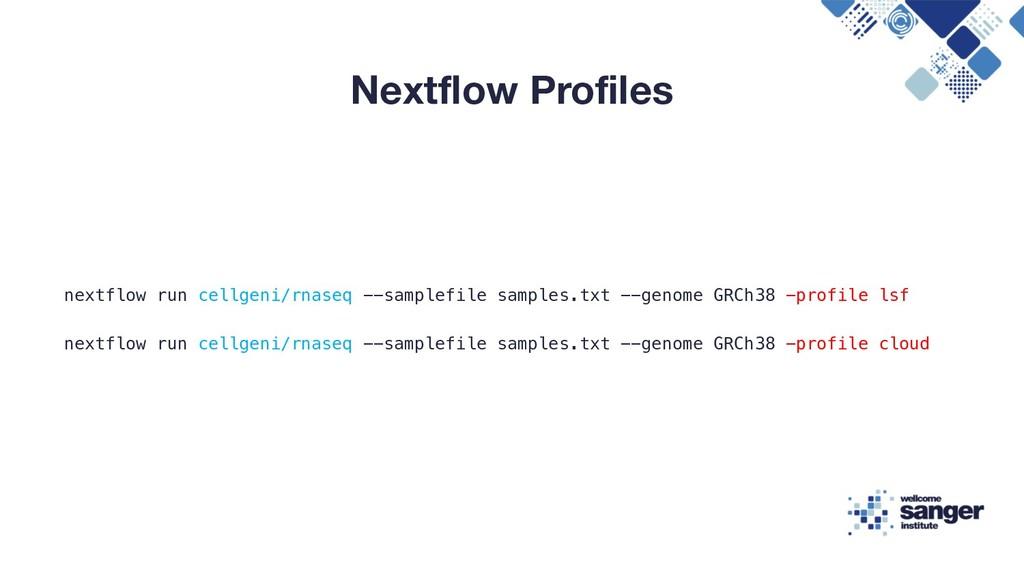 Nextflow Profiles nextflow run cellgeni/rnaseq ...