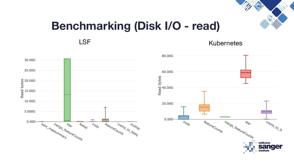 Benchmarking (Disk I/O - read) LSF Kubernetes