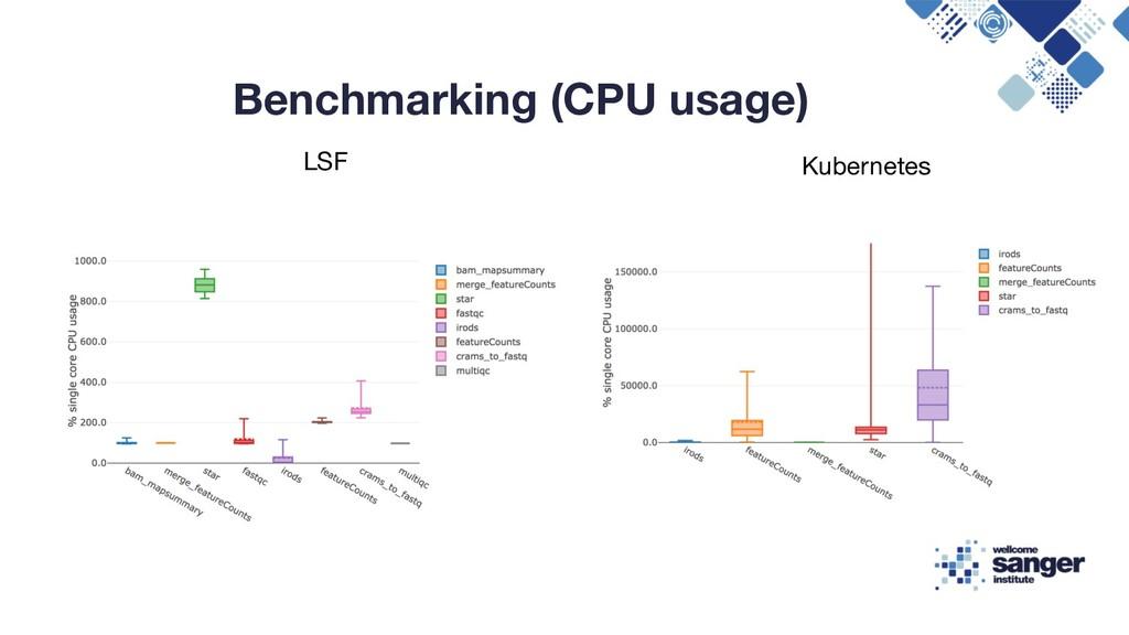 Benchmarking (CPU usage) LSF Kubernetes