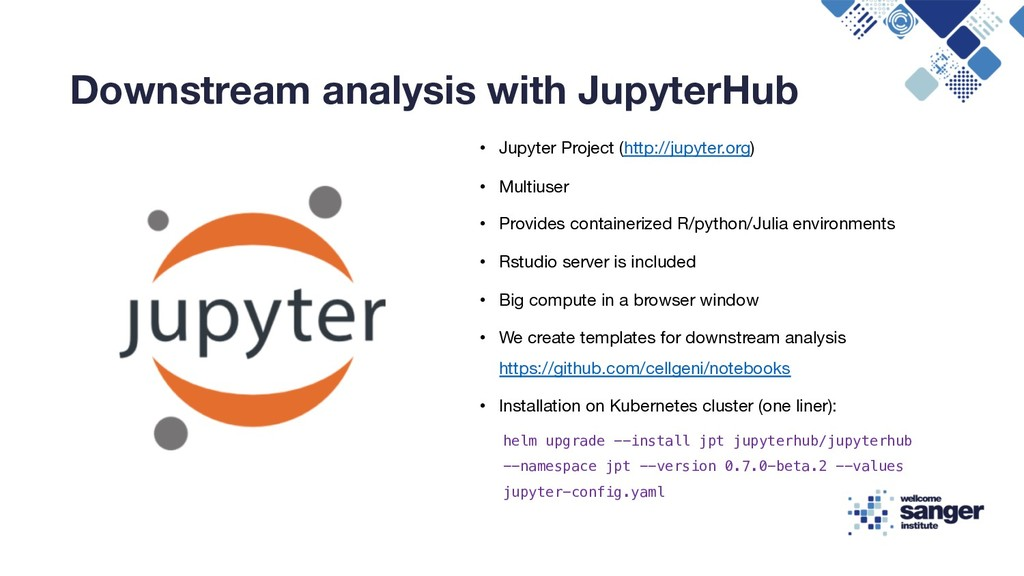 Downstream analysis with JupyterHub • Jupyter P...
