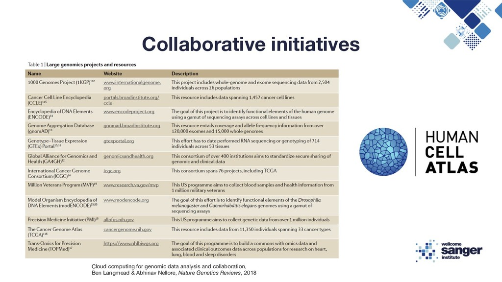 Collaborative initiatives Cloud computing for g...