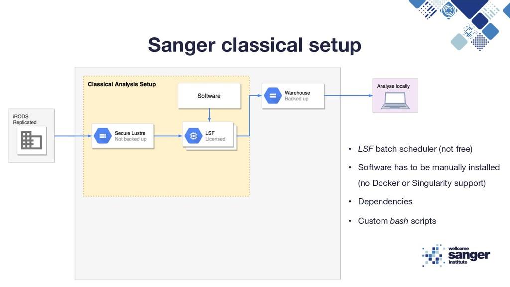 Sanger classical setup • LSF batch scheduler (n...