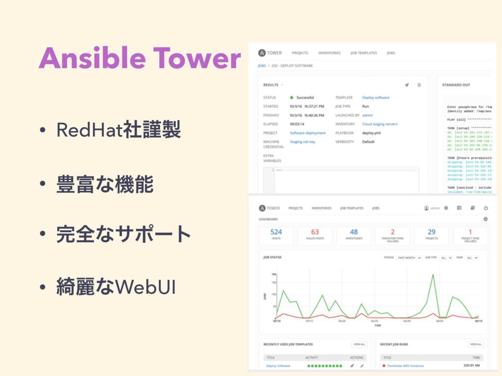 Ansible Tower • RedHatࣾۘ • ๛ͳػ • શͳαϙʔτ • ៉...