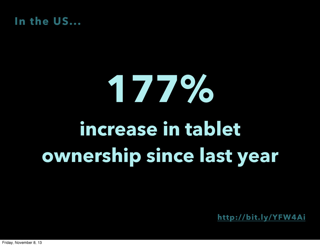 177% increase in tablet ownership since last ye...