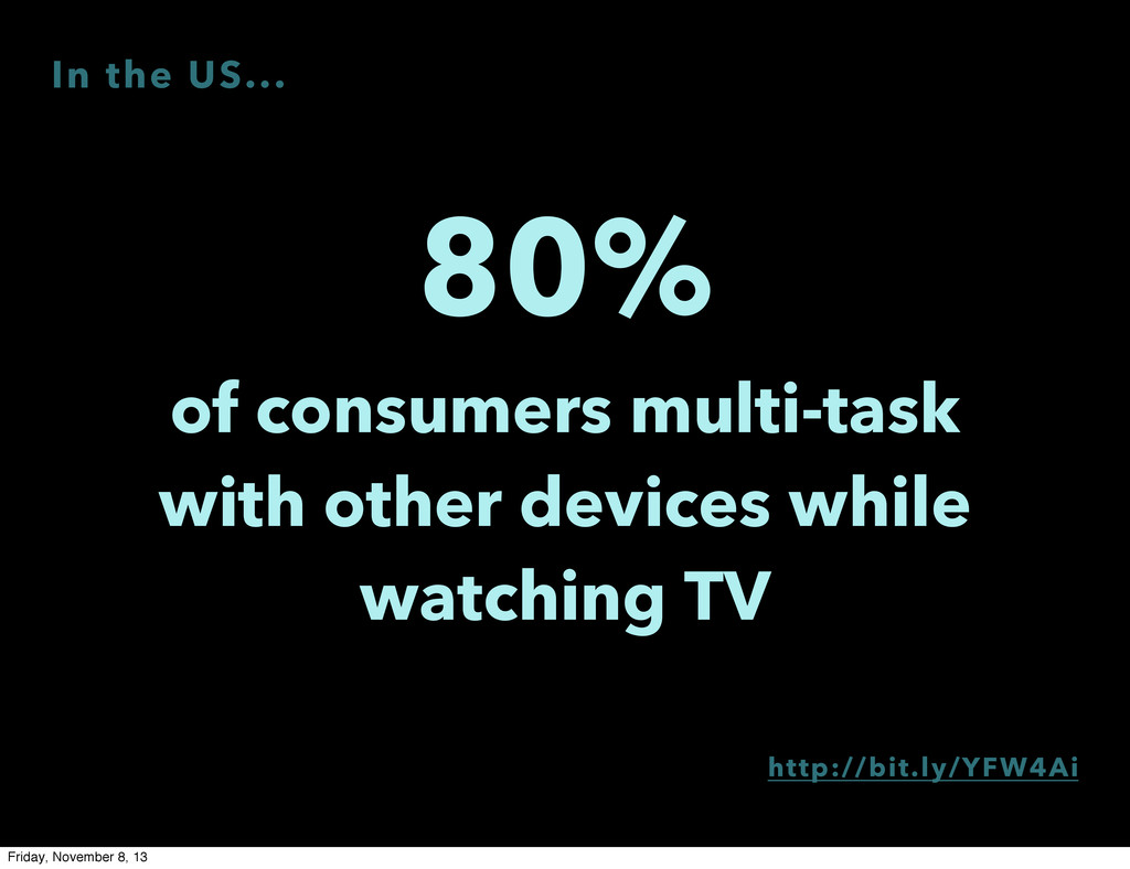 80% of consumers multi-task with other devices ...