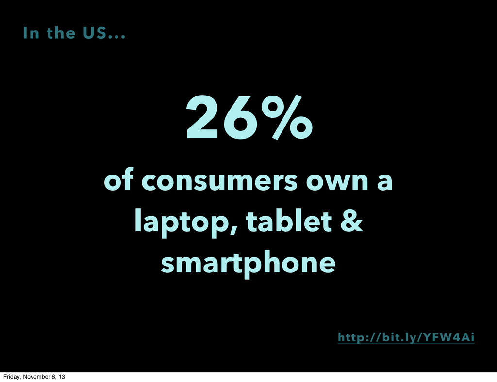 26% of consumers own a laptop, tablet & smartph...