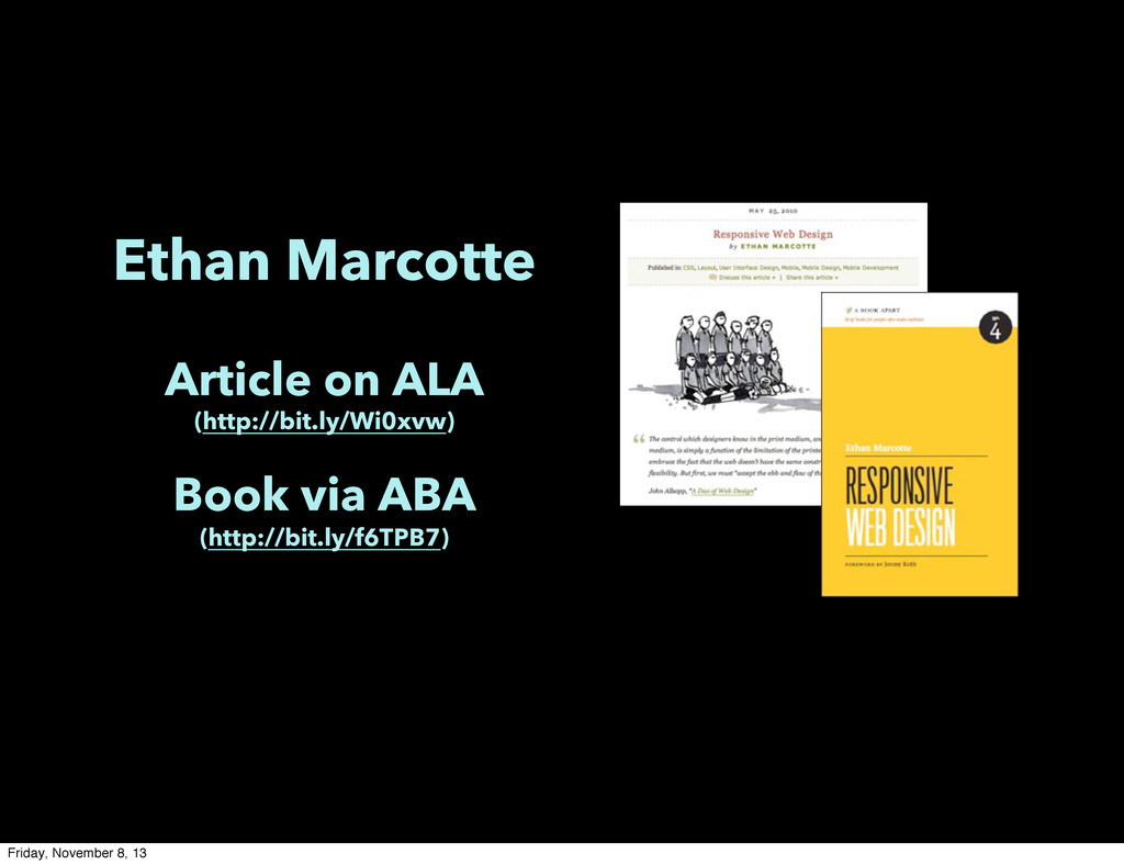 Ethan Marcotte Article on ALA (http://bit.ly/Wi...