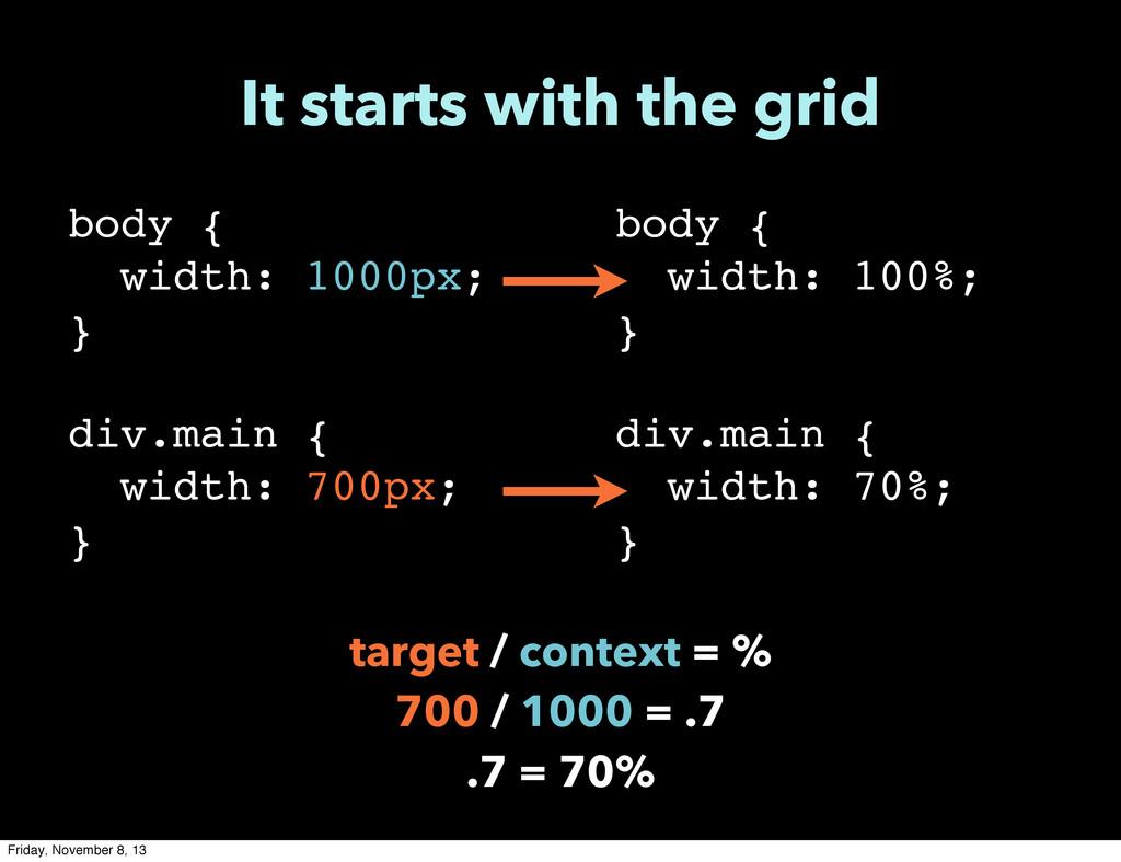body { width: 1000px; } div.main { width: 700px...