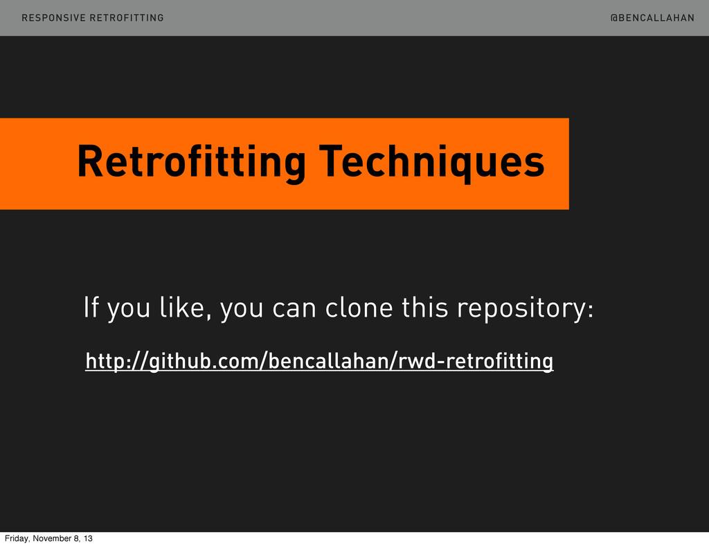 @BENCALLAHAN Retrofitting Techniques http://git...