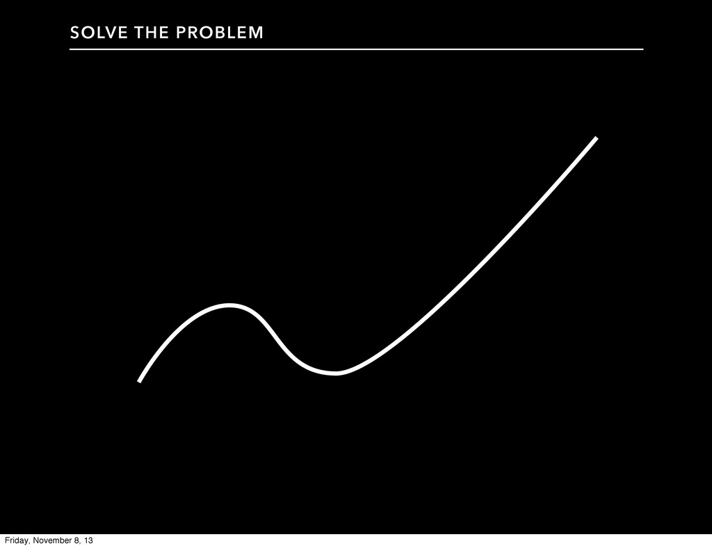 SOLVE THE PROBLEM Friday, November 8, 13