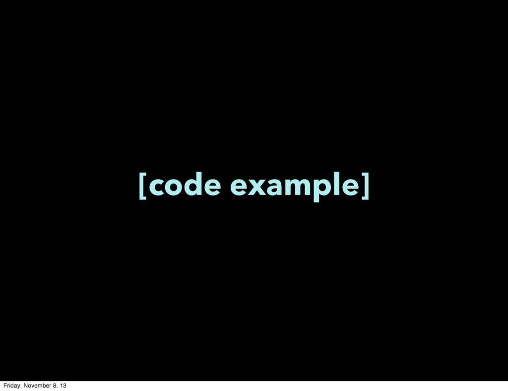 [code example] Friday, November 8, 13