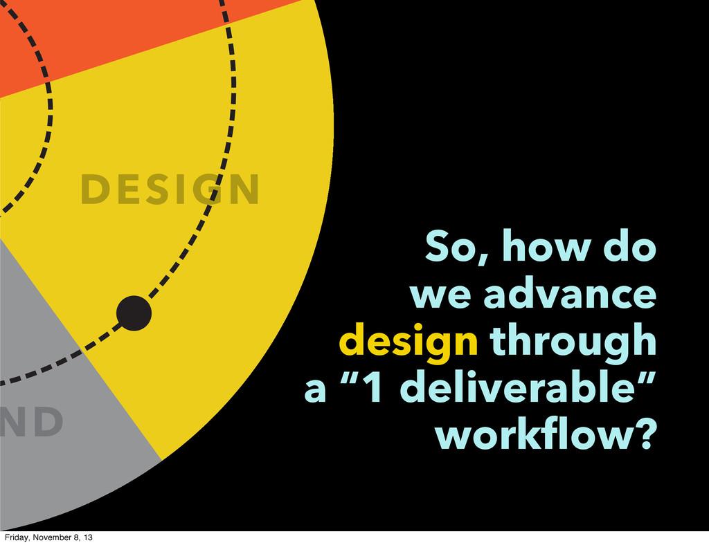 ND DESIGN So, how do we advance design through ...