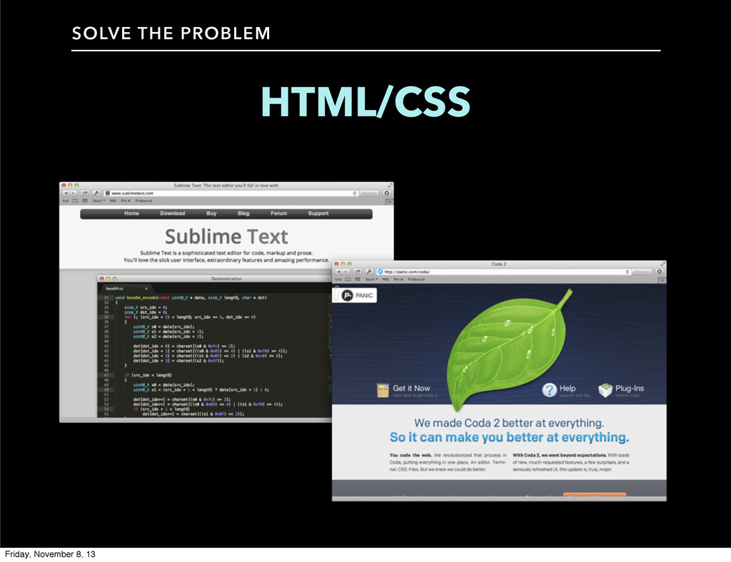 HTML/CSS SOLVE THE PROBLEM Friday, November 8, ...