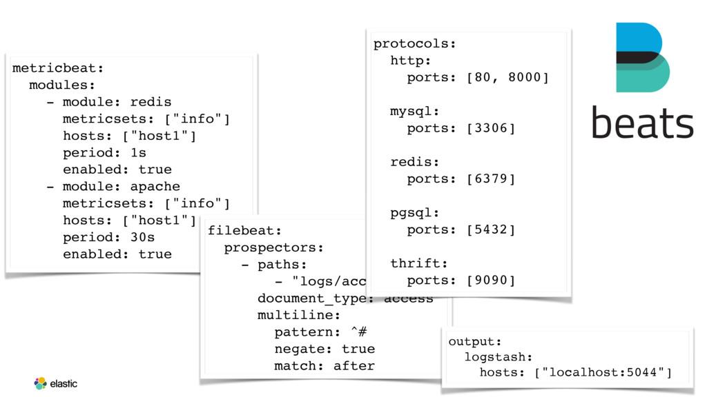 metricbeat: modules: - module: redis metricsets...