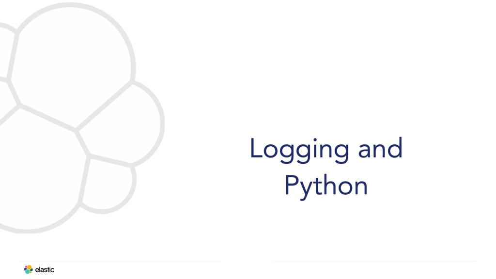 Logging and Python