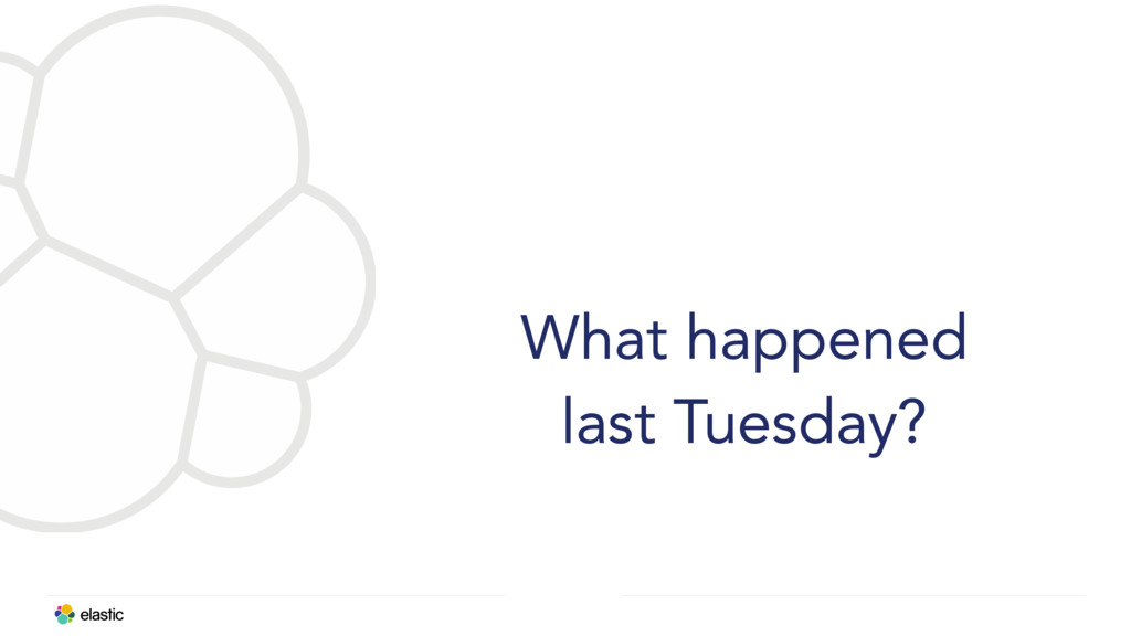 What happened last Tuesday?
