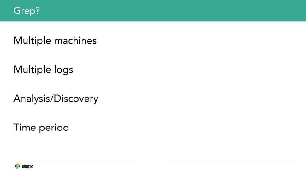 Multiple machines Multiple logs Analysis/Discov...