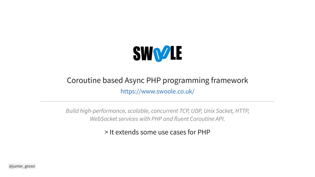 @junior_grossi Coroutine based Async PHP progra...