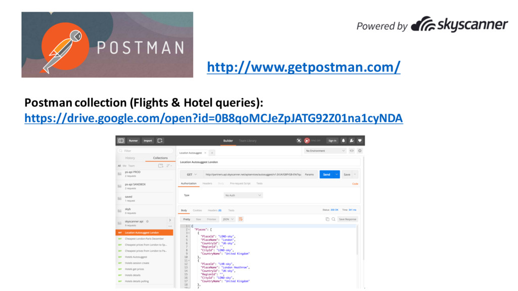 Postman collection (Flights & Hotel queries): h...