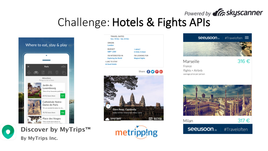 Challenge: Hotels & Fights APIs