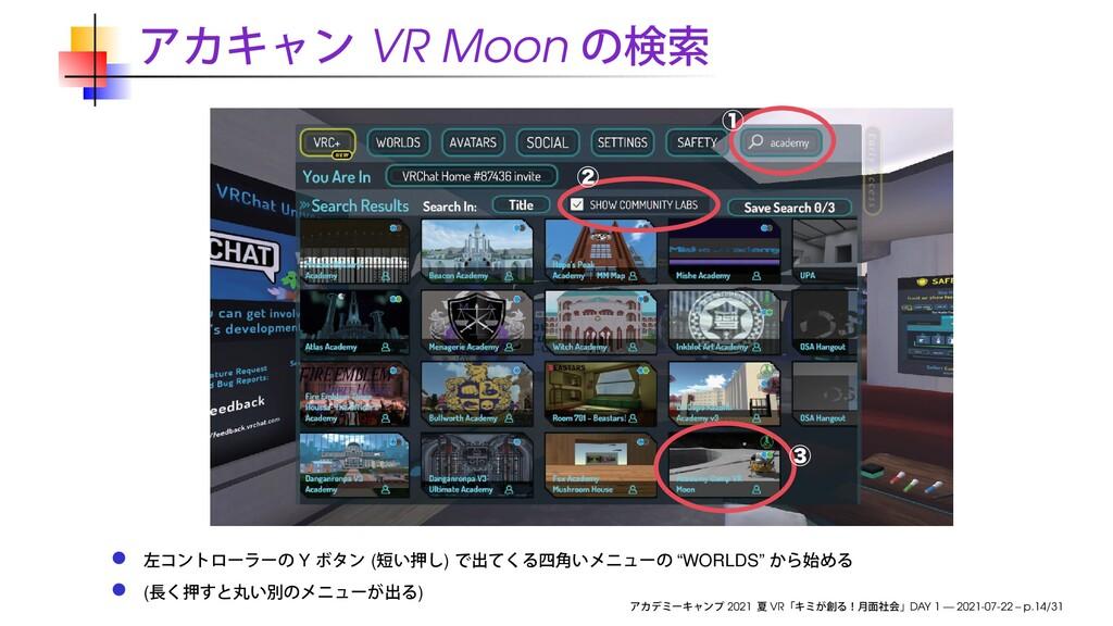 "VR Moon ᶃ ᶄ ᶅ Y ( ) ""WORLDS"" ( ) 2021 VR DAY 1 ..."