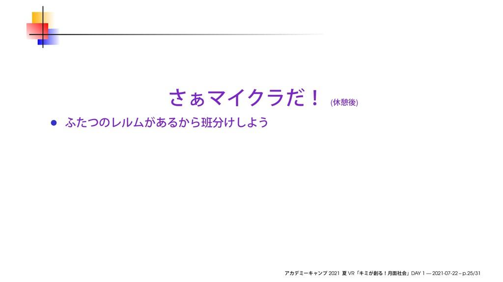 ( ) 2021 VR DAY 1 — 2021-07-22 – p.25/31