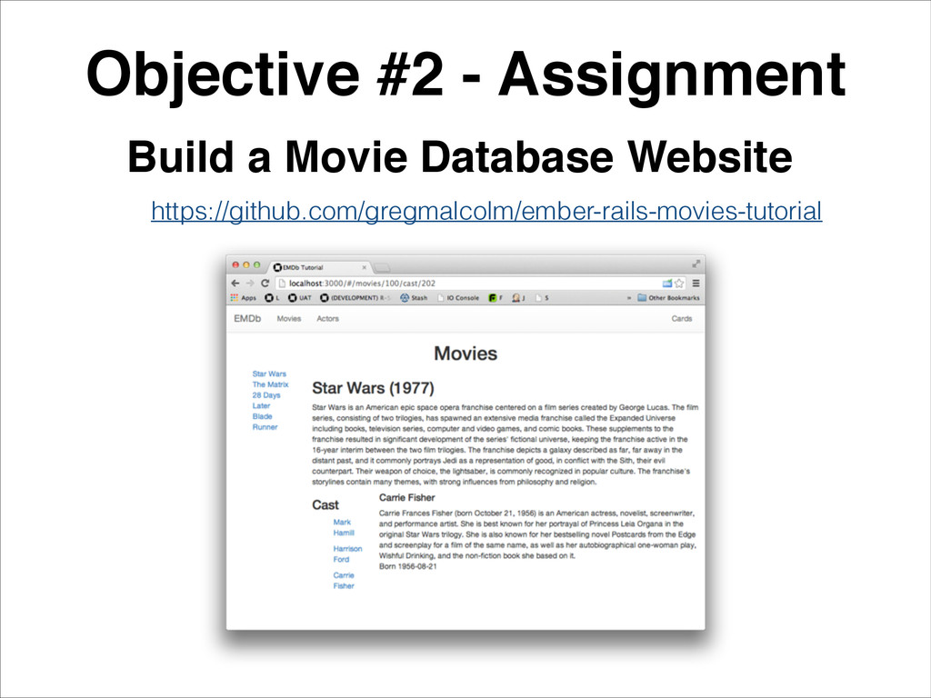 Objective #2 - Assignment! Build a Movie Databa...