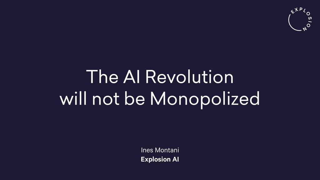 The AI Revolution will not be Monopolized Ines ...