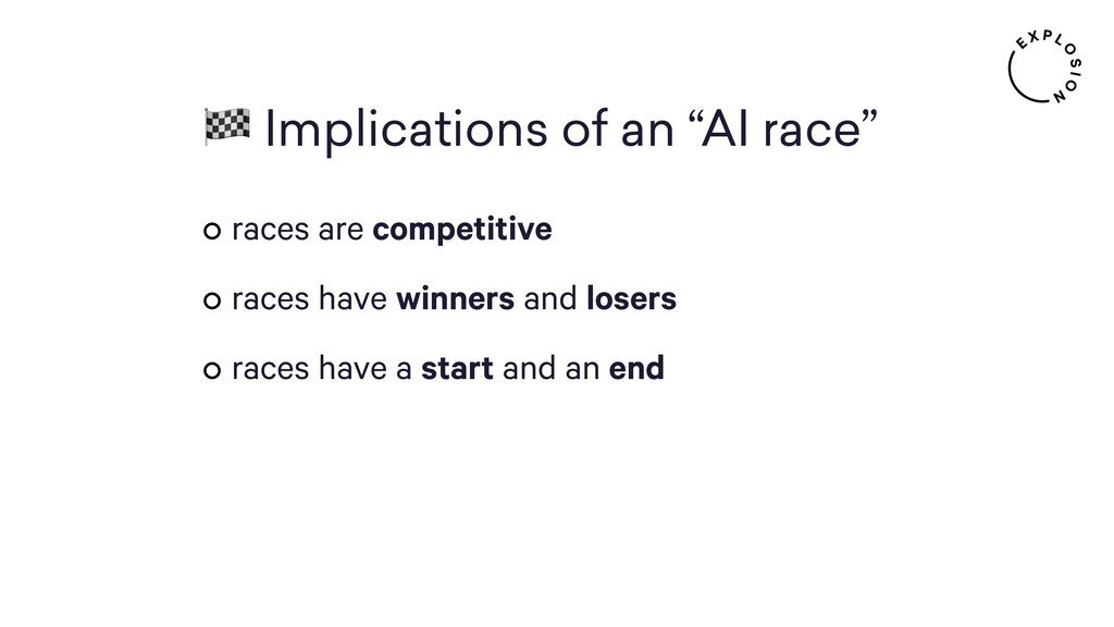 "Implications of an ""AI race"" races are competi..."
