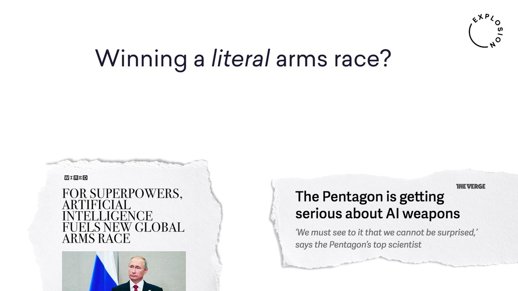 Winning a literal arms race?