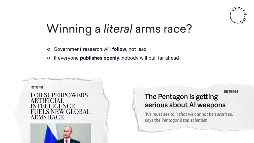 Winning a literal arms race? Government researc...