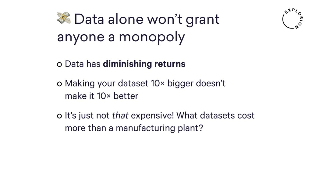 Data alone won't grant 