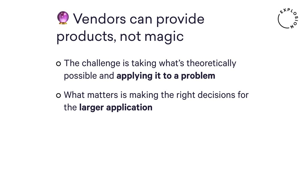 Vendors can provide