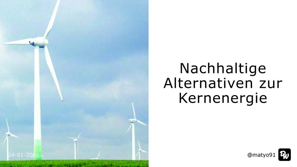 24-01-2006 Nachhaltige Alternativen zur Kernene...
